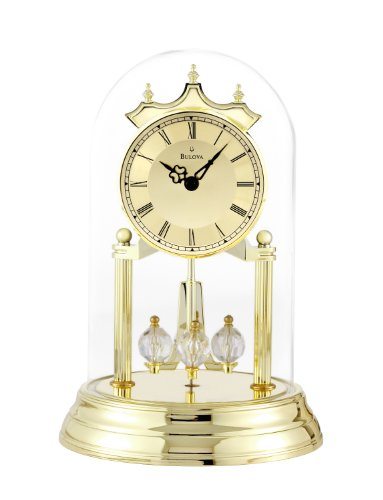 Bulova B8818 Tristan I Clock, Brass Finish ()