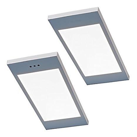 2-er Set Led luce sottopensile cucina SANTO 2 x 3,5 W Bianco ...