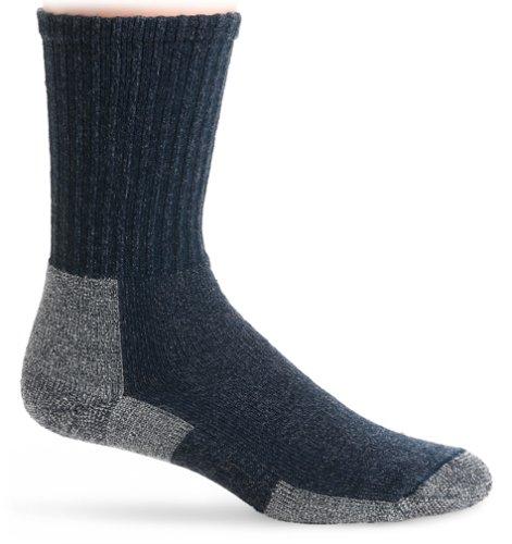 Thorlo Men s Wool/Silk Lt Hiker Crew Sock, Navy He…