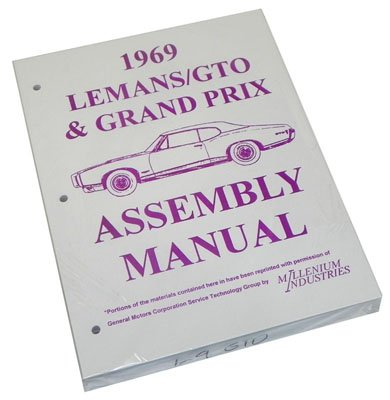 Inline Tube (I-3-7) Factory Assembly Manual Compatible with 1969 Pontiac GTO, LeMans and Grand Prix