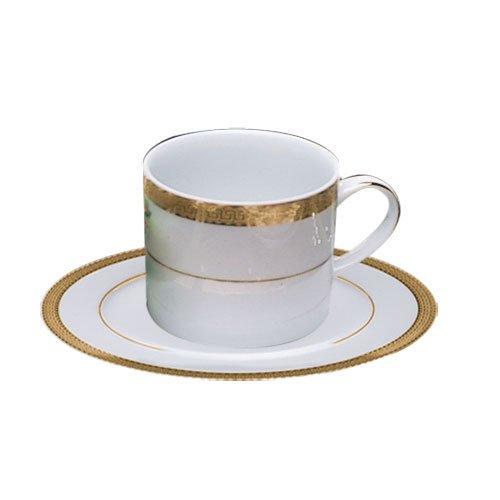 Luxor Gold Rim 8 oz. Teacup and Saucer [Set of 6]