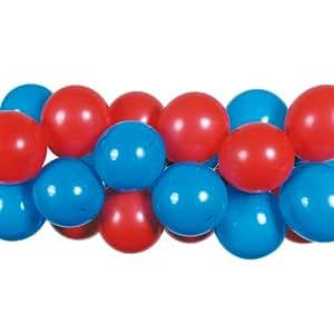 Kögler 41520 - Guirnalda de globos (80 globos, 20 enganches), color rojo y azul