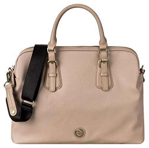 Bugatti Passione Aktentasche Damen aus Kunstleder mit Laptopfach – Businesstasche Damen Laptoptasche – Bürotasche in Taupe