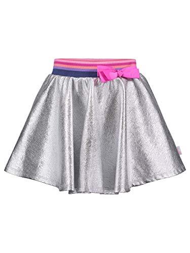 Jojo Siwa (934828WAS) Girls Metallic Print Bow Skirt in Silver 2, 4