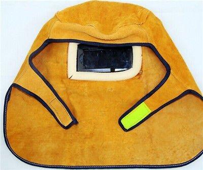 BADASS SHARKS Comfortable Leather Welder Welding Protective Gear Mask Work Cap Hood Helmet