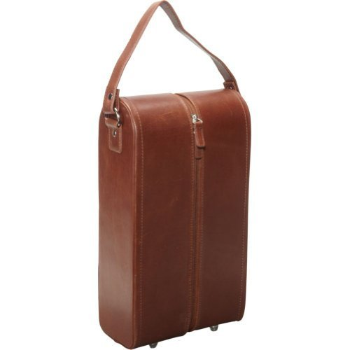 AmeriLeather Leather Double Wine Case Holder (Brown) (Leather Tote Amerileather)