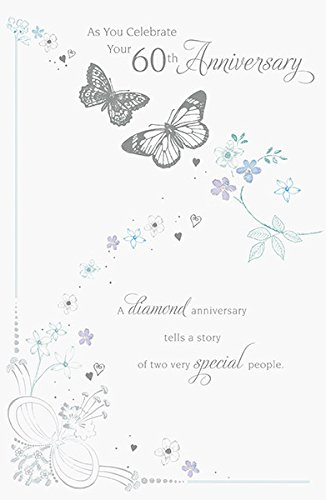 Amazon 60th diamond wedding anniversary greeting card office 60th diamond wedding anniversary greeting card m4hsunfo