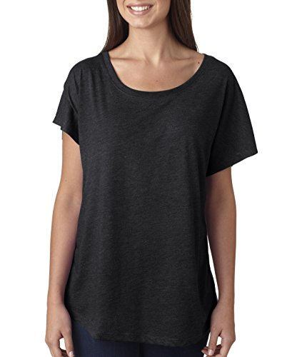 Next Level Womens Tri-Blend Dolman 6760 -VINTAGE BLAC ()