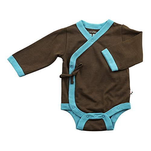 (Baby Soy All-Natural Kimono Bodysuit, Chocolate, 0-3 Months)