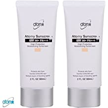 Atomy Sunscreen SPF 50 + Pa +++ Herb Skin Care Uv Sun Protection Beige 2 Pcs 1 Set