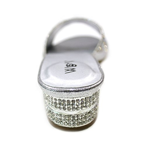 Walk de de Wear Material mujer vestir plata Plateado Sandalias para UK amp; Sintético Fnqq56wg