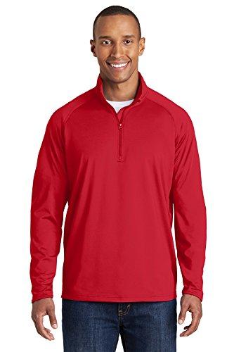 Sport-Tek 174 Sport-Wick 174 Stretch 1/2-Zip Pullover. ST850 X-Large True Red