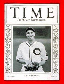 Bob Feller / Time Cover: April 19, 1937, Art Poster by Time Magazine