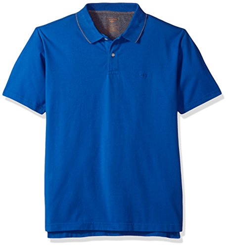 Dockers Men's Performance Polo Short Sleeve With Embroidered Logo, Light Code Blue, S