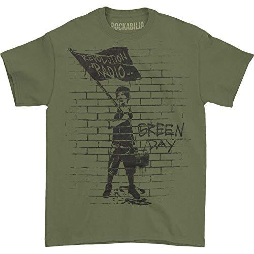 Kings Road Green Day Men's Flag Boy T-Shirt Military Green XL ()