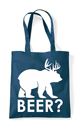 Bag Themed Animal Cute Deer Funny Bear Beer Mark Shopper Cross Question Petrol Tote 4FwqA8fv