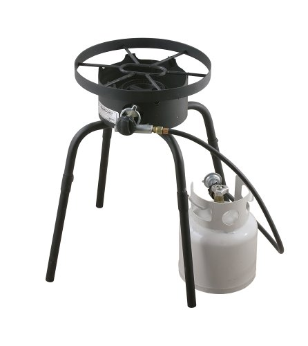Camp Chef Sportsman Series SL-30L Single Burner Low pressure Cooking System with Detachable legs and Round top, Black