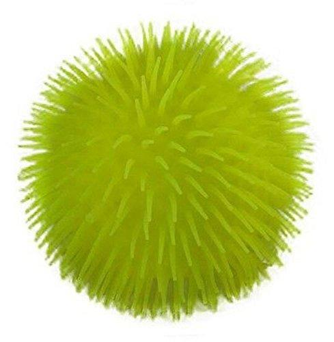 YELLOW 9 Inch Large Jumbo Puffer Balls Stress Ball for Kids Tactile Fidget (Generic Stress Balls)