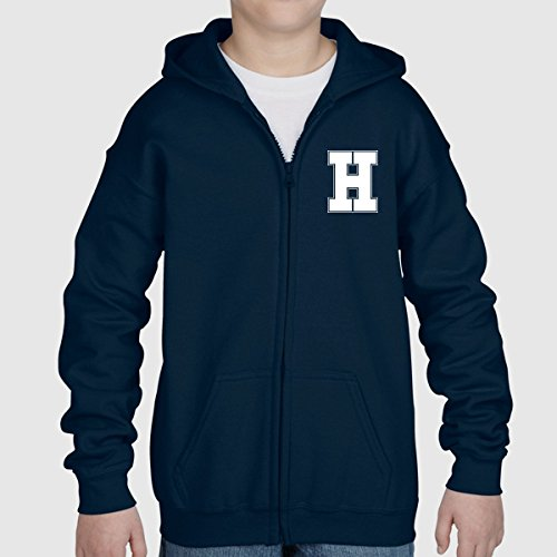 Letter, Initial, Personalised, Zip Up Pullover Hoodie Hooded Sweater Sweatshirt Jumper Kids Children Girl Boy