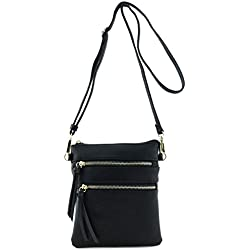Functional Multi Pocket Crossbody Bag Black