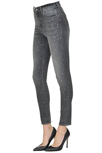PINKO Damen MCGLDNM04003I Grau Baumwolle Jeans LCG6ZCT