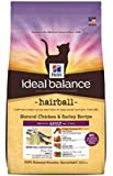Hill's Ideal Balance Hairball Natural Chicken & Barley Recipe Adult Dry Cat Food, 7-Pound