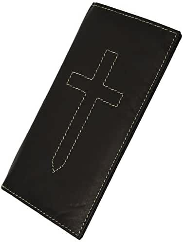 Cross Sign Basic Leather Checkbook Cover By Marshal® wallet !!!!
