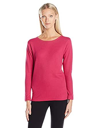 Duofold Women's Mid Weight Wicking Thermal Shirt, Berry Delight, S