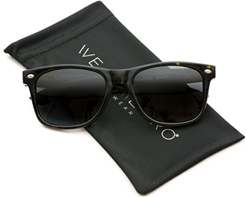 WearMe Pro - Polarized Lens Black Wayfarer Sunglasses - Sunglasses Or Tortoise Black
