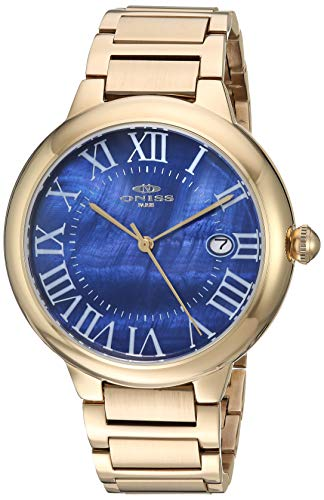 Adee Kaye Men's Japanese Automatic Stainless Steel Watch, Color:Gold-Toned (Model: ON2222-MGBU)