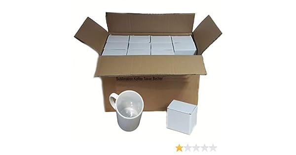 Sublimation Lot de 36 Tasses à café tasse Blanc: Amazon.es ...