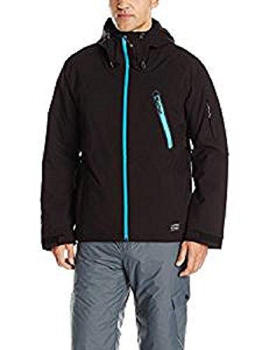 O'Neill Men's Snow Outerwear Waterproof Jacket Size (XXL, Black/Light Blue)