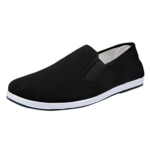 a2a07c699972a DENER Men Penny Loafers,Canvas Slip on Wide Width Comfortable Casual  Walking Driving Shoes Espadrille