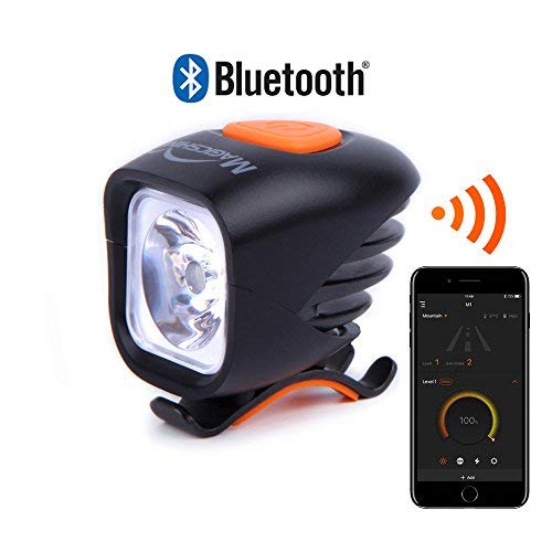 Magicshine MJ 900B Bluetooth Bike Front Light, Single CREE LED with 1000 Lumen max Output. USB Rechargeable and Waterproof Battery Pack Ideal for Urban and Road Cycling, or MTB Helmet Light.