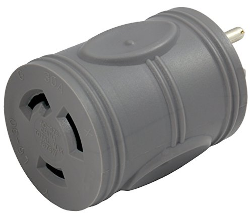 AC WORKS [EV515L630] EVSE Upgrade Electric Vehicle Charging Adapter 15Amp Household Plug to L6-30R Female Connector by AC WORKS