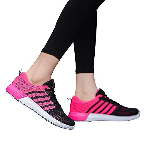 QHJ Nero nero 38 donna corsa Pink Hot Scarpe da rnRqFWSrB
