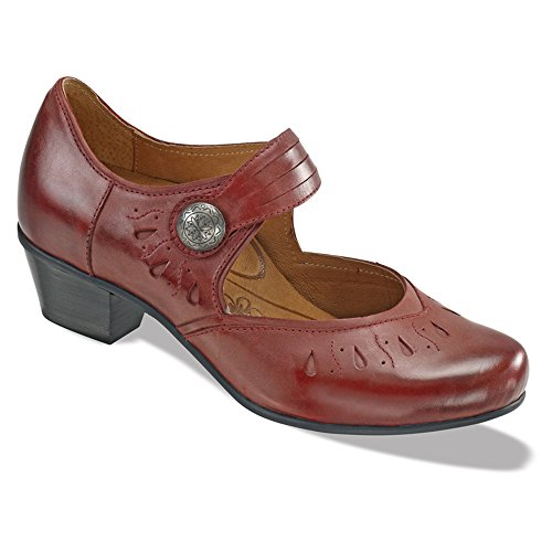 Aetrex Women's Rachel Mary Jane,Vintage Red Leather,US 9 B (Aetrex Mary Leather Janes)