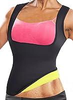 MIRANCO Women's Hot Sweat Slimming Neoprene Shirt Waist Trainer Corset Vest Tummy Control Body Shaper for Weight Loss
