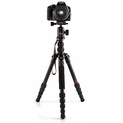 TNP Kamay M-2522Z Professional DSLR Camera Tripod Monopod with Ball Head Ultra-light Compact Portable Aluminum Tripod for Canon Nikon Sony Pentax DSLR Digital Cameras