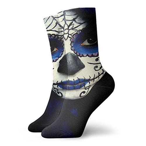 Crew Socks Guy Sugar Skull Makeup Custom Personalized Winter Warmth For -