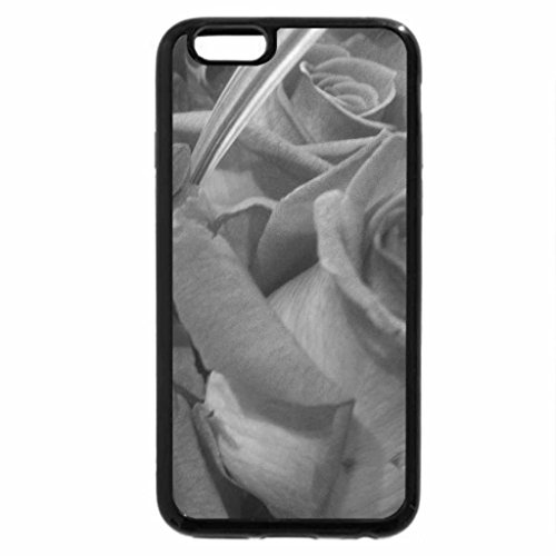 iPhone 6S Plus Case, iPhone 6 Plus Case (Black & White) - Assortment Of Roses