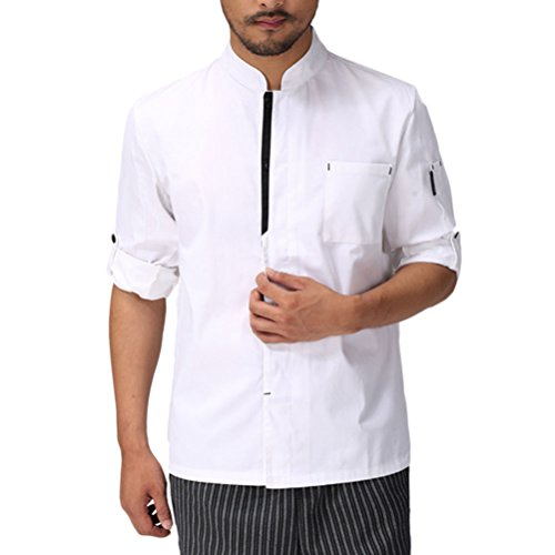 Zhhlaixing Long White Uniform Chef 2 Clothes Work Unisex Classic Colors Advanced Sleeve zqrzHZw