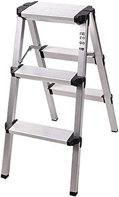 Rziioo Escalera de peldaño Plegable de Aluminio 2/3 peldaños ...