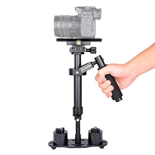 YELANGU Pro Version S40N DSLR Handheld Stabilizer Steadicam for Camera Video DSLR Nikon, Canon, Sony, Panasonic with Quick Release Plate(Black) by YELANGU