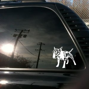 Bull English Terrier - English Bull Terrier truck car vinyl decal Small