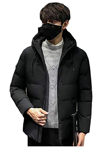 Windproof Packable Lightweight Down Coat Quilted s Men's security Black Hooded Puffer Jacket n4UtF1XFw