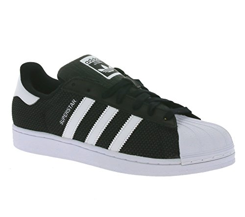 adidas Men's Superstar Mesh Sneakers Black White 9mfefoNE