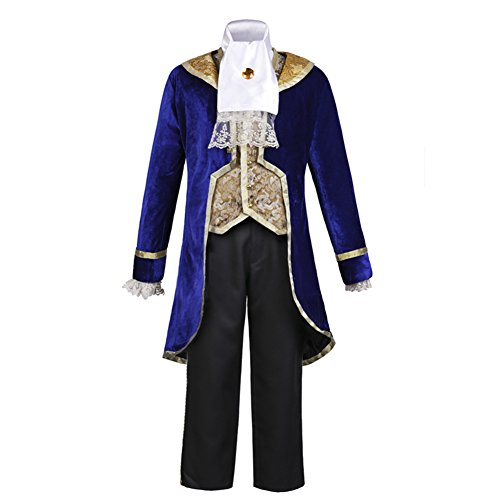 COSKING Beast Prince Costume for Men, Deluxe Boys Halloween Cosplay Outfit Comic-Con Use (Large)