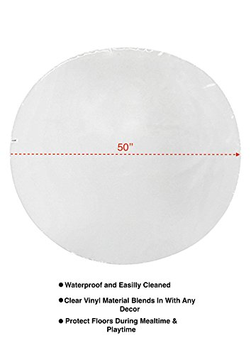 Jeep Floor Mat, Plastic Play Mat, Waterproof High Chair Floor Protector, Splat Mat, Multi-Purpose Playmat for Playing and Feeding, Clear, 50 Inches Diameter by Jeep (Image #3)