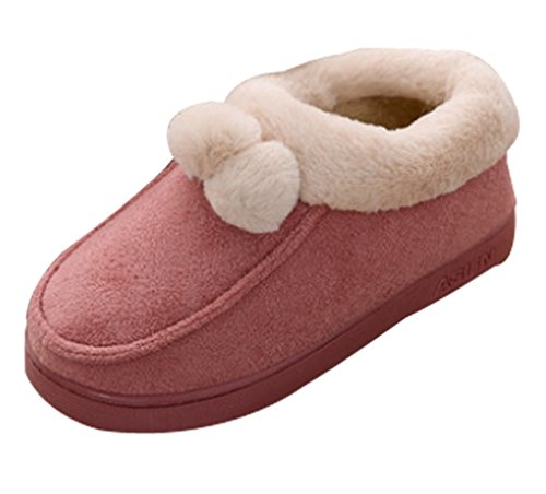 Cattior Womens Coral Warm Slipper Shoes Pantofole Rosse